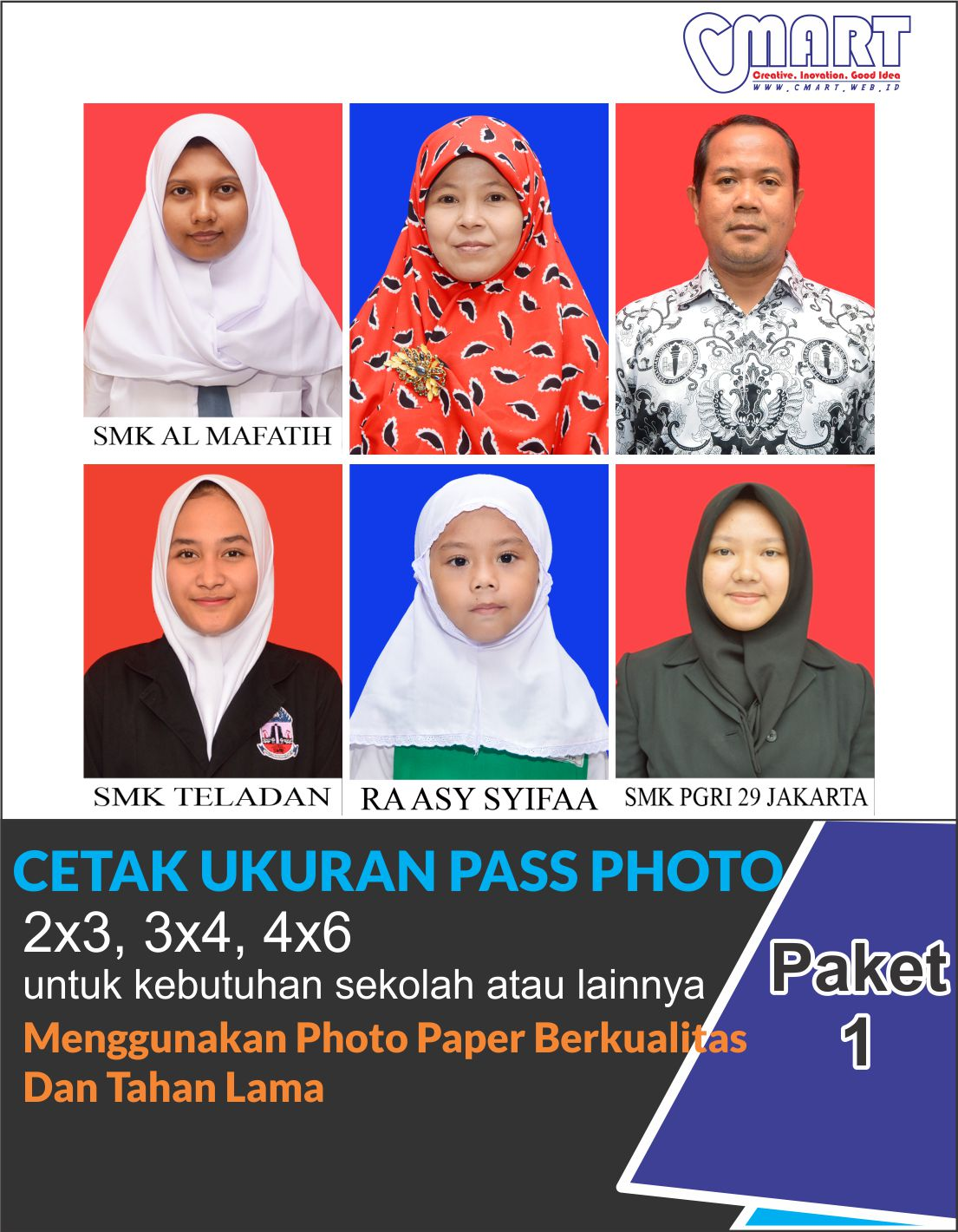 Cetak Pas Foto Pas Photo Ukuran 2 3 3 4 4 6 Kodak Digital Lab Cmart